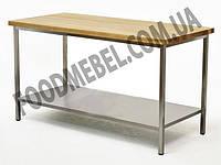Стол пекарский для мучных работ с деревянной столешницей