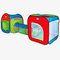 Детская палатка A 999-120 две с тоннелем 74*240*84 см