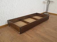 Подкроватный ящик на колесиках (дл.140 см). Массив - сосна, ольха.