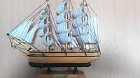 Парусник деревянный собранный 30*27 см