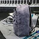 Рюкзак бархатный с оборками (серый), фото 3