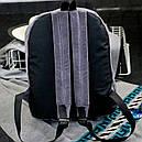 Рюкзак бархатный с оборками (серый), фото 5