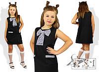 Школьное платье с декоративным бантом и карманами, разные расцветки и размеры