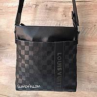 Мужская сумка планшетка Louise Vuitton Луи Виттон через плечо