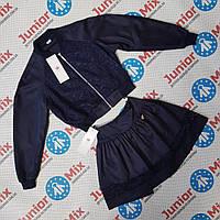 Школьный костюм  на девочек  синего цвета оптом DEVA