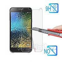 Защитное стекло для экрана Samsung Galaxy E7 (e700) твердость 9H, 2.5D (tempered glass)