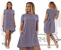 Асимметричное платье в расцветках БАТ 485 (6855)
