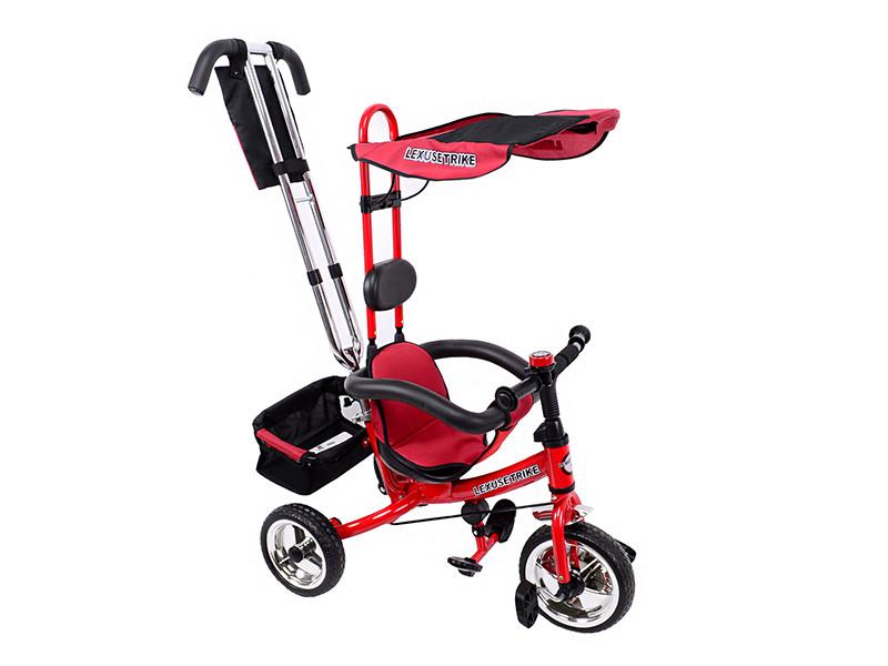 Велосипед детский, 3-х колёсный, красный. в п/э /1/