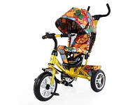 Велосипед трехколесный TILLY Trike T-351-7 ЗОЛОТОЙ с большими надувными колесами /1/