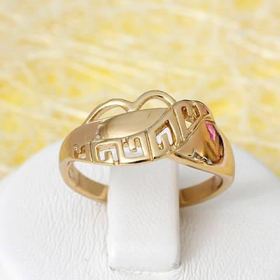 002-2660 - Резное кольцо позолота, 16, 17 р