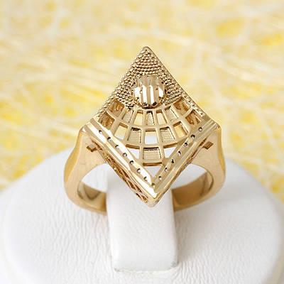 002-2661 - Позолоченный перстень с резьбой, 16, 17 р
