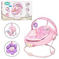Детский шезлонг-качалка Bambi 60681 розовый