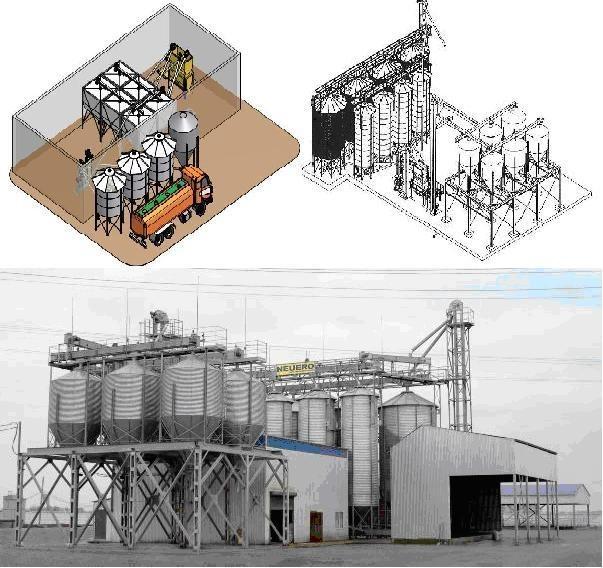 Комбикормовые заводы, линии и цеха – оборудование для приготовления комбикорма (Германия)