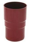 Муфта трубы водосточной системы Бриза (Bryza) 90 мм красный