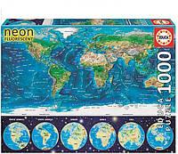 Пазл светящийся Educa Карта Мира 1000 элементов (EDU-16760)