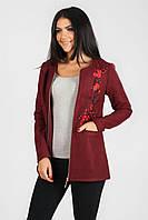 Женский пиджак на молнии из кашемир.