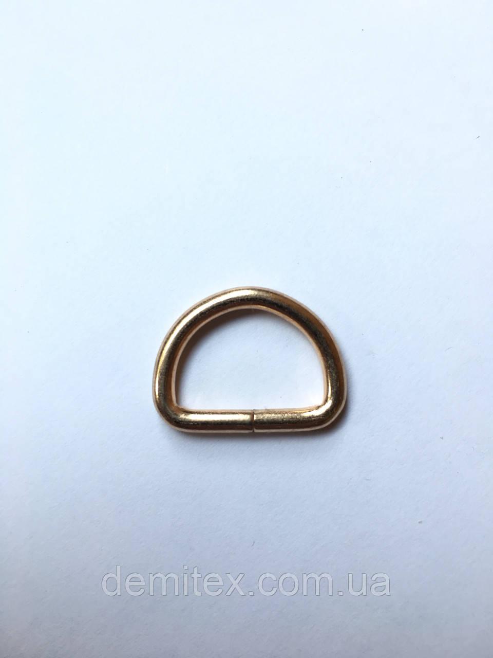 Полукольцо золото 20х13х3мм