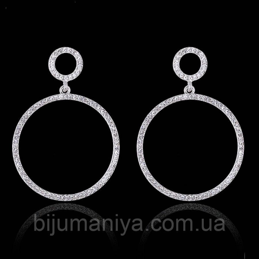 Сережки кільця ювелірна біжутерія сріблення 1747ки
