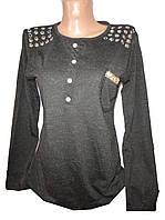 Кофточка женская 0124 карман стразы пуговицы (деми)