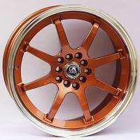 Литые диски Alexrims AFC-2 (forged) R17 W8 PCD5x100 ET42 DIA67.1 (bronze + polished rim)