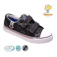 Кеды для мальчика Tom.m черный джинс Размеры: 32 - 37