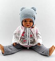 Теплая шапка с ушками 48-51р оптом