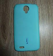 Чехол накладка Lenovo S820 синий (Cherry)