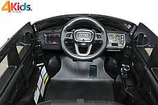 Детский электромобиль Audi Q7 черный лак, кожа, 2 мотора по 45 ватт, фото 3