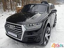 Детский электромобиль Audi Q7 черный лак, кожа, 2 мотора по 45 ватт, фото 2