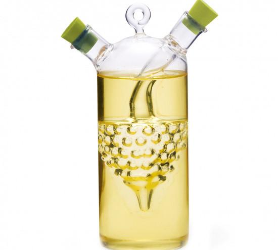 Бутылочка из стекла 50/320мл для масла и уксуса 2-в-1 Fissman