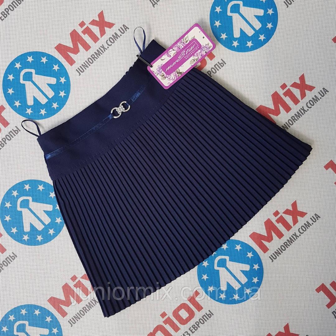 Детская юбка в мелкую плисеровку для девочек оптом Dim