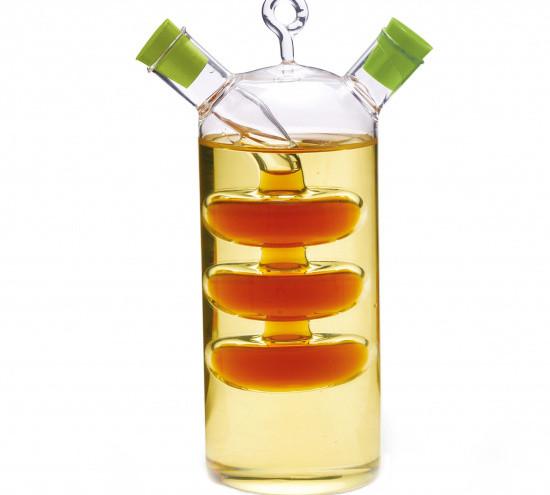 Бутылочка из стекла 50/350мл для масла и уксуса 2-в-1 Fissman