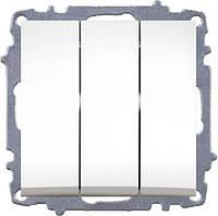 Выключатель 3-кл Zena модуль белый 609-010200-254
