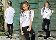 """Детская стильная блузка-рубашка """"Коттон Цепочка"""" в расцветках (16-289)"""