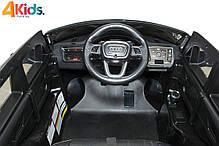 Детский электромобиль Audi Q7 бордовый лак, кожа, 2 мотора по 45 ватт, фото 3