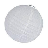 Бумажный фонарь, белого цвета, диаметр 15 см.