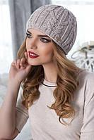 Стильная вязаная женская шапка «Милена»
