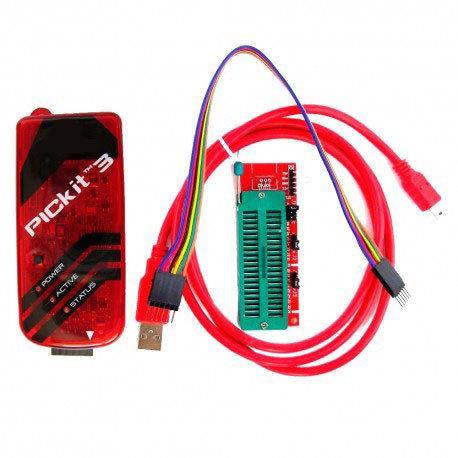 PICkit3 USB Программатор PIC контроллеров, микросхем памяти EEPROM и ключей KeeLOQ