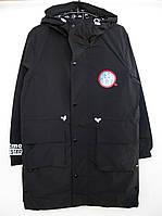 Стильная подростковая демисезонная куртка Best Boy Army черного цвета