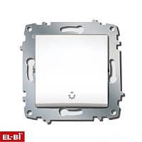 Выключатель таймера+подсветка Zena модуль белый 609-010200-206