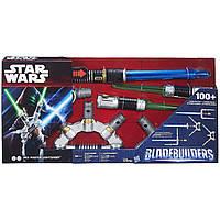 Звездные войны Именной электронный световой меч Джедая (звук, свет). Оригинал Hasbro B2949