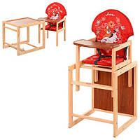 Детский стульчик для кормления трансформер М V-010-21-6 Vivast
