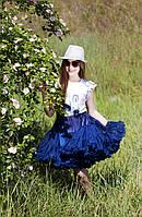 Пышная юбка Pettiskirt Нави для взрослых и детей