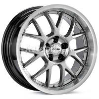 Литые диски Rial Nogaro R17 W9 PCD5x112 ET40 DIA70.1 (sterling silver lip polished)