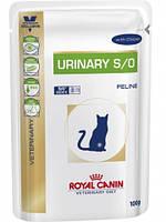 Royal Canin Urinary Feline для кошек с курицей диета при заболевании мочевыделительной системы, 100г