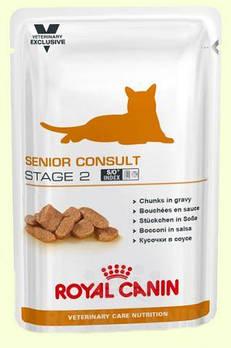 Влажный корм Royal Canin (Роял Канин) Senior Consult Stage 2 для кошек старше 7 лет, 100гx12 шт