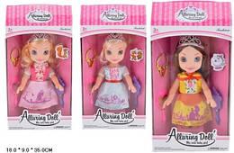 Кукла 32см XD10-2/3/5 принцесса 3в.кор.18*9*35 ш.к./72/