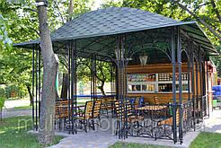 Альтанка кована з металу паркова