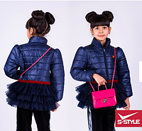 Куртка для девочки,плащевка  ,весна-осень,S-Style