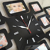 Часы с фото черные